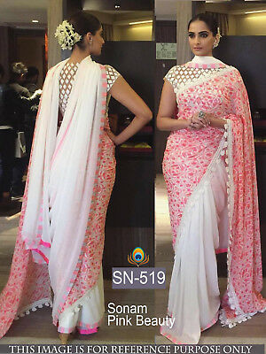 Indian Ethnic Bollywood Saree Sari Designer Traditional  Bridle Wear Party wear