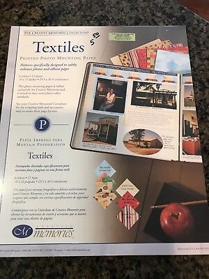 Creative Memories Photo Mounting Paper 10x12 Package of 12 Textiles