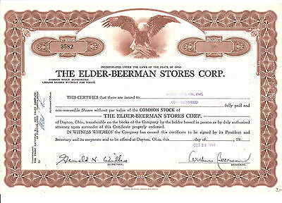 1968 The Elder - Beerman Stores Corp.  100 Shares  USA Dekostück