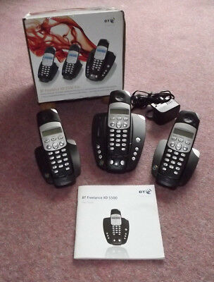 Telephone Answer Machine with twin extensions - BT Freelance XD 5500 in black