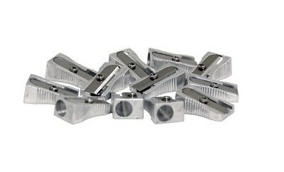 12 Pack School Smart 1 Hole Hand Held Pencil Sharpener Silver Durable - New