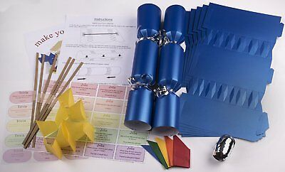 Make your own large 14 black christmas wedding cracker kits 10 x make your own large 14 35cm christmas cracker kits blue solutioingenieria Image collections