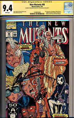 New Mutants #98 Cgc 9.4-Signed By Stan Lee & Rob Liefeld -First App Of Deadpool!