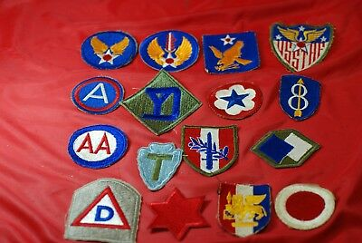 16 Different World War Ii Patches - #m10183