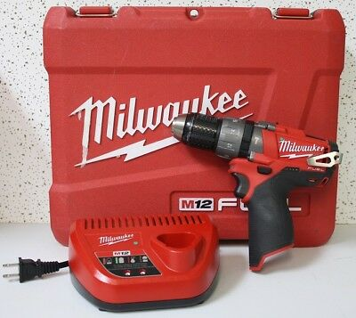 Milwaukee M12 FUEL 12-Volt Cordless Brushless 1/2 in. Hammer Drill/Driver