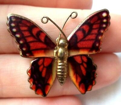 """Stunning Vintage Estate Butterfly Animal Colorful 1 3/8"""" Brooch!!! 8597R"""