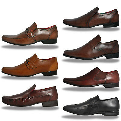 REAL LEATHER Red Tape Slip On Designer Dress Shoes From Only £9.99 Free P&P