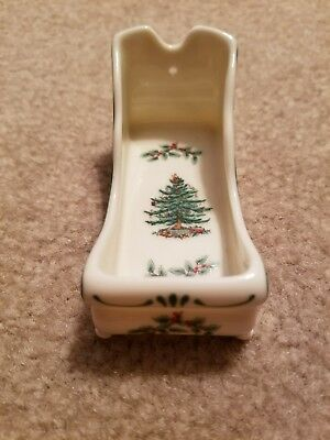 SPODE•Christmas Tree•NWOB•Ornament or toothpick holder•3 inches long
