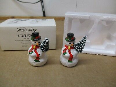 Dept. 56 Snow Village A Tree For Me 5164-0 2 Pc Handpainted Figures Free Ship