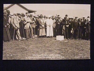 ROUTENBURN GOLF CLUB LARGS OPENING EXHIBITION GAME 13th JUNE 1914 RP POSTCARD 1