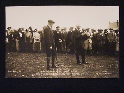 ROUTENBURN GOLF CLUB LARGS OPENING EXHIBITION GAME 13th JUNE 1914 RP POSTCARD 2