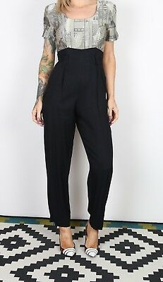 Jumpsuit Print Plain Patterned UK 8 XS  All in one 80's (B3K)