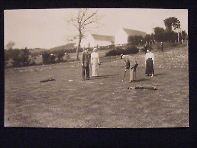 ROUTENBURN GOLF CLUB LARGS OPENING EXHIBITION GAME 13th JUNE 1914 RP POSTCARD 7