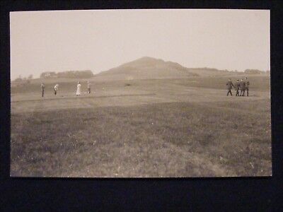 ROUTENBURN GOLF CLUB LARGS OPENING EXHIBITION GAME 13th JUNE 1914 RP POSTCARD 8