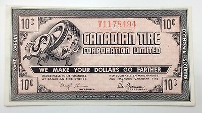 1962 Canadian Tire Money 10 Ten Cents CTC-7-B1-T Circulated Mor Power Gas E164