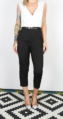 A X PARIS Jumpsuit Plain 3/4 Length UK 10 Small   All in one  (B3P)