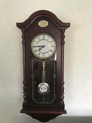 minster westminster chime wall clock. Battery operated.