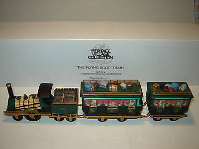 Dept 56 Dickens Village - The Flying Scot Train - 4 Pc Set