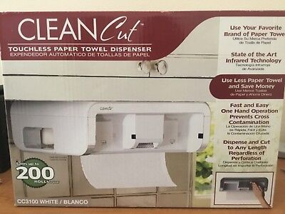 Cut Touchless PAPER TOWEL Dispenser, White