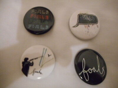 "THE FOALS Set of 4 x 1"" Button Badges INDIE BRAND NEW"