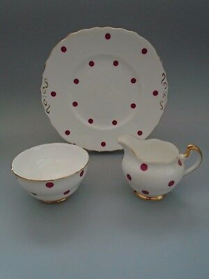 60s ROYAL VALE RASPBERRY  RED POLKA DOT JOB LOT