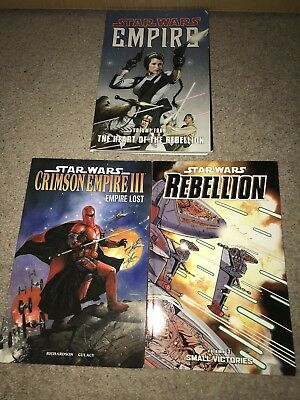 Dark Horse Books. 3 Star Wars Paperback Books
