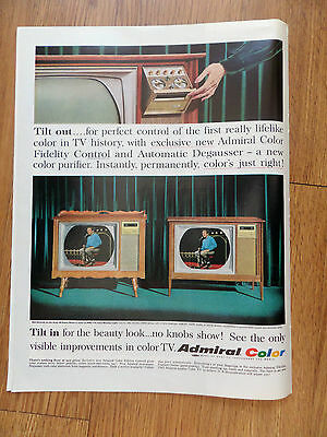 1965 Admiral TV Television Ad Salem Asbury Andy Williams on the Tube