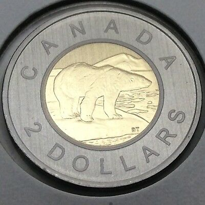 2010 Canada Nickel Specimen 2 Two Dollar Toonie Canadian Uncirculated Coin E186