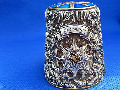 140g. RUSSIAN Cossack Military MUSEUM Cup Hat PAPAHA ENAMEL STERLING SILVER 925