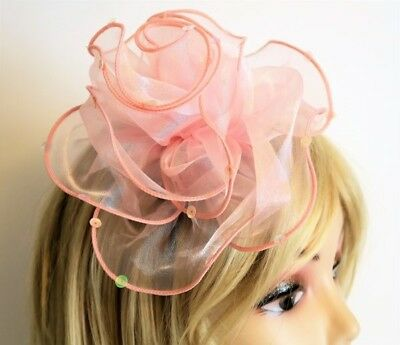 Ladies Kentucky Derby Pink Flower Fascinator with Sequin Details NWT