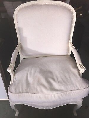 Reproduction Louis XV Style chair, Cream colour. In A Very Good Condition
