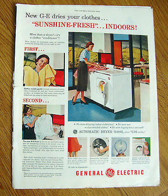 1954 GE General Electric Dryer Ad
