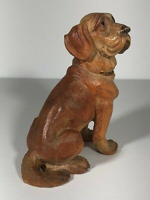 Anri (Italy) Woodcarving Of A St. Bernard Dog, Retired From Production