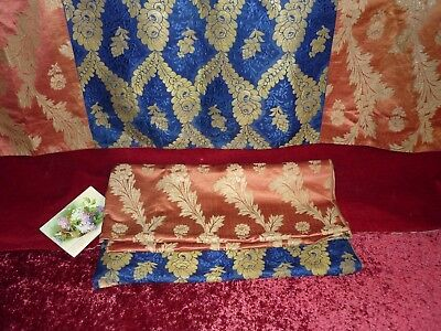 TWO Pieces French Antique Silk Fabric Perfect Cushions Etc.