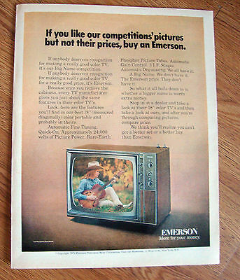 1971 Emerson TV Television Ad Portable Cowgirl Playing Guitar Theme