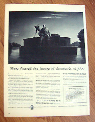 1945 Maxwell House Coffee Ad   Floating on Cumberland River
