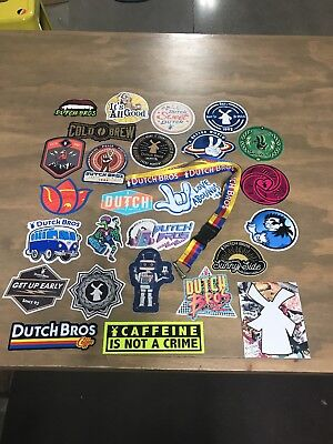 New Dutch Bros sticker and lanyard Lot of 26 Dutch brothers stickers and lanyard
