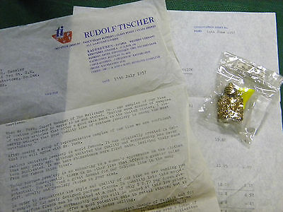 Rare Vintage Perfume Flacon and Funnel, Intro letter 1957 Western Germany 1 1/2""