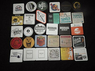30 Recent Release Microbrewery Beer Coasters Mats