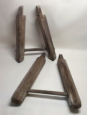 Rare 16th 17th Century Pair of Solid Oak & Country Bench Legs for Restoration.