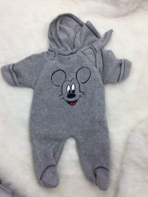 Disney Baby Bunting Size 6/9 Month Mickey Mouse Grey