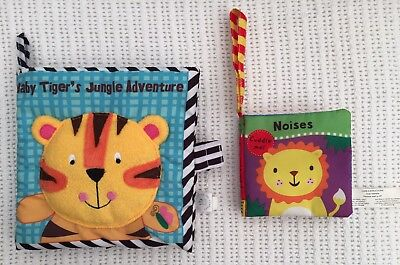 MANHATTAN TOY CO Cloth Book Baby Tiger's Jungle Adventure & Noises Buggy Book