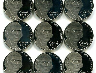 Roll of GEM PROOF CAMEO 2011-S Jefferson Nickels - Free Shipping