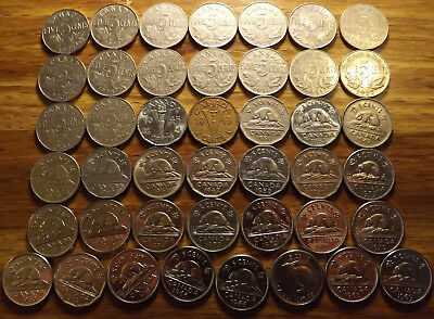 1922 - Onward Canada Five Cent Coin Collection w/ 1926 High Grades and BU's !!