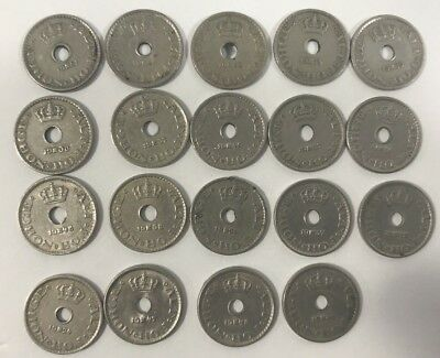 Norge (Norway), 10 Ore Coin Lot of 19 Coins, 1924-1951