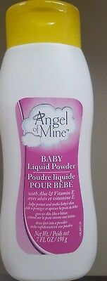 LIQUID Cornstarch Baby POWDER Talc Free Angel Of Mine Vitamin E 7 oz  FREE SHIP!