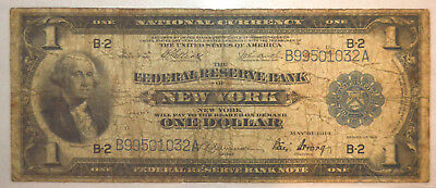 1918 $1 FRB OF NEW YORK NATIONAL BANK NOTE - .99c START, NO RESERVE - L@@K!!