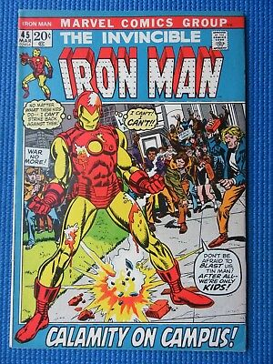 The Invincible Iron Man # 45 - (Nm-) - Calamity On Campus - High Grade