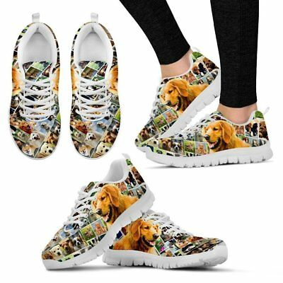 Lovely Golden Retriever Print-Running Shoes For Women-Express Shipping