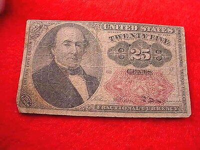 1874 25 Cents Fractional Currency Fifth Issue Nice Red Seal Note!!   #16